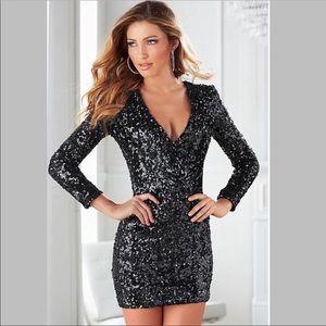 NWT Venus V Neck Bodycon Sequin Dress